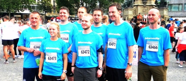 biomedis-Team beim J.P. Morgan Lauf 2012